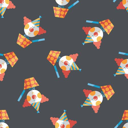 jack in the box: Jack in the box flat icon,eps10 seamless pattern background