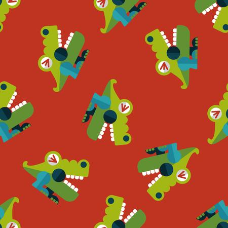 wrath: crocodile toy flat icon,eps10 seamless pattern background