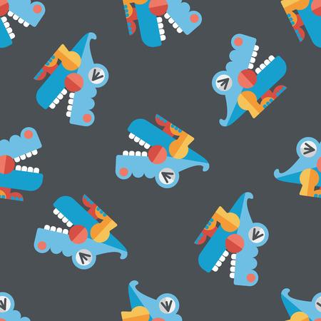 corrientes: crocodile toy flat icon,eps10 seamless pattern background