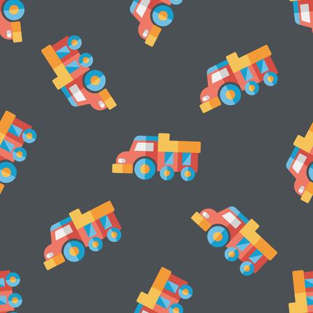 dumper: Dump truck flat icon,eps10 seamless pattern background