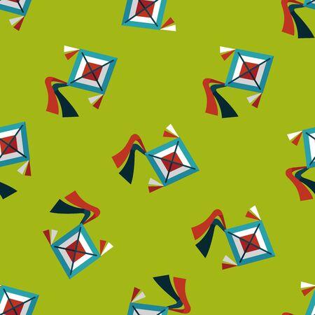 kite flat icon,eps10 seamless pattern background Çizim