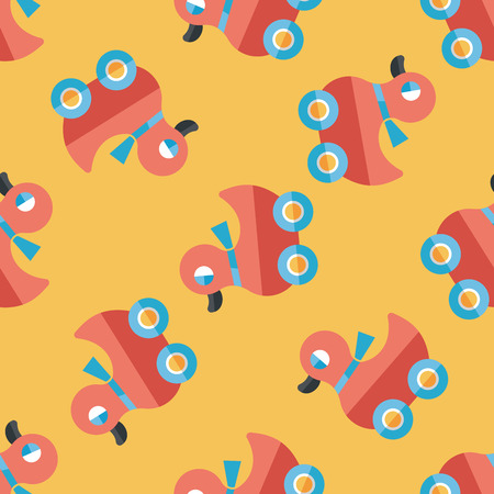 duck toy: duck toy flat icon,eps10 seamless pattern background Illustration