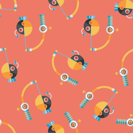 angling rod: Fishing toy flat icon,eps10 seamless pattern background Illustration