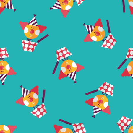 jack in a box: Jack in the box flat icon,eps10 seamless pattern background