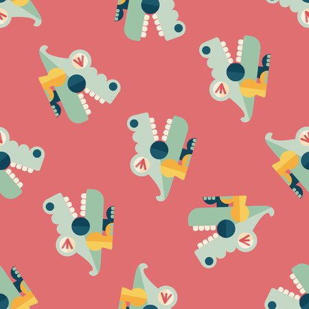 destructive: crocodile toy flat icon,eps10 seamless pattern background