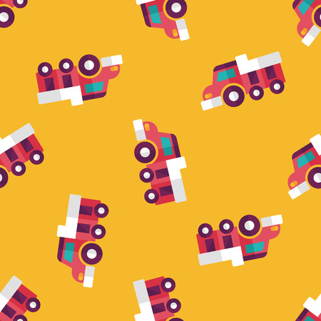 earthmoving: Dump truck flat icon,eps10 seamless pattern background