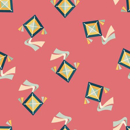 fluctuation: kite flat icon,eps10 seamless pattern background Illustration