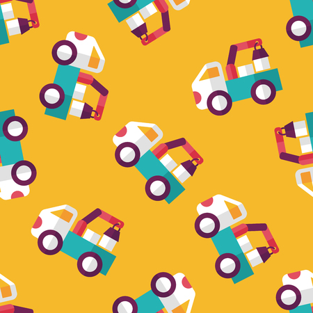 over sized: truck flat icon,eps10 seamless pattern background Illustration