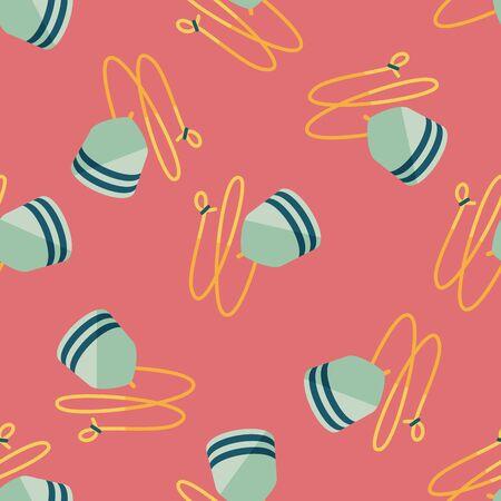 peg: peg top flat icon,eps10 seamless pattern background Illustration