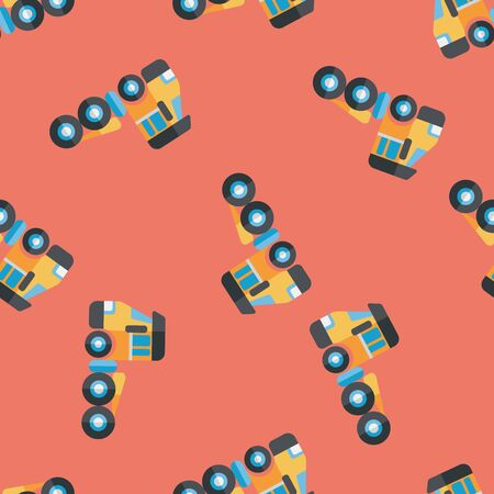 d�panneuse: Transportation Tow Truck flat icon,eps10 seamless pattern background Illustration