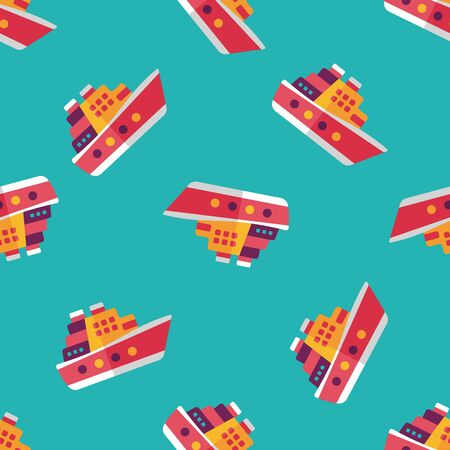 ferry: Transportation ferry flat icon,eps10 seamless pattern background