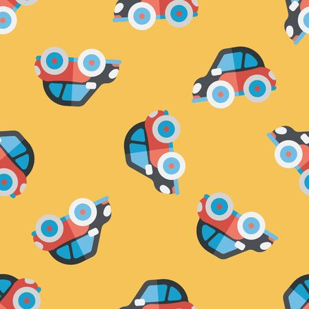 Transportation car flat icon,eps10 seamless pattern background Vector