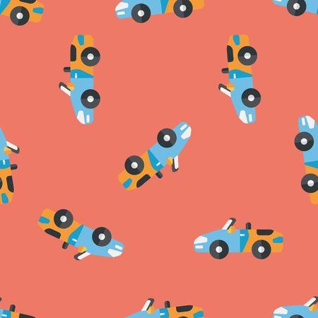 open car: Transportation open car flat icon,eps10 seamless pattern background