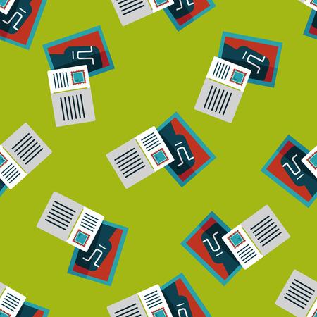 postcard background: Postcard flat icon seamless pattern background