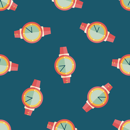 wristwatch: Wristwatch flat icon seamless pattern background