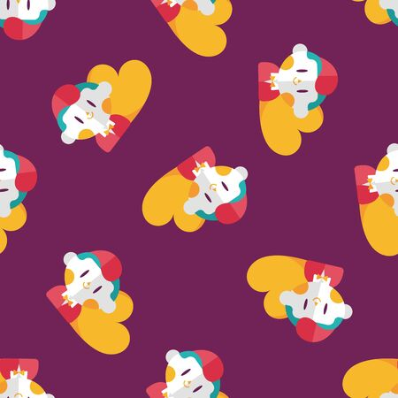 inlove: Valentines day boy flat icon,eps10 seamless pattern background