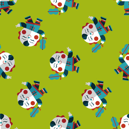 maitreya: Chinese New Year flat icon,eps10, Maitreya doll seamless pattern background