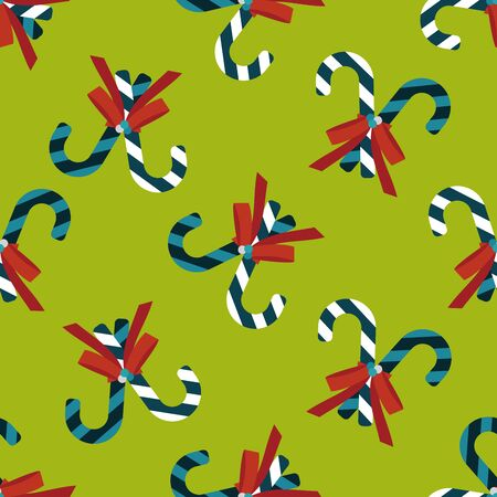 spearmint: Christmas candy cane flat icon,eps10 seamless pattern background
