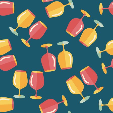 glass cup: kitchenware glass cup flat icon,eps10 seamless pattern background