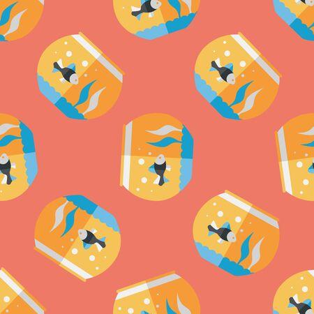 pet fish: Pet fish flat icon,eps10 seamless pattern background