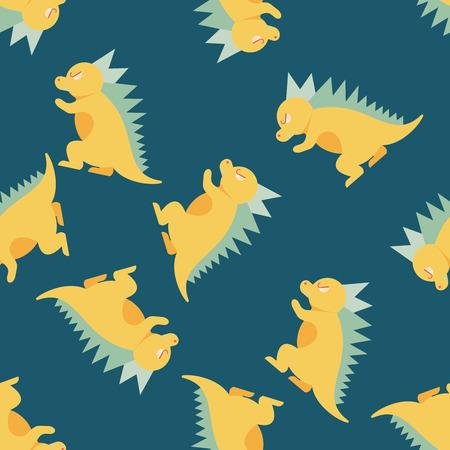 ascendant: Dinosaur flat icon,eps10 seamless pattern background