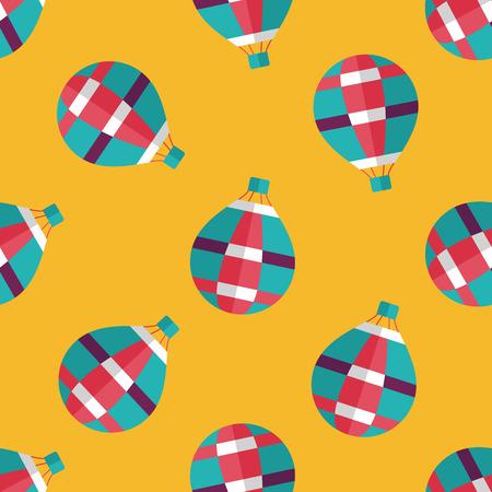 ballooning: Transportation hot air ballon flat icon,eps10 seamless pattern background