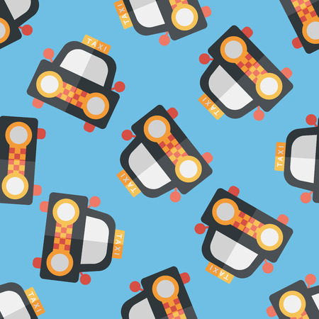 taxi flat icon seamless pattern background Vector