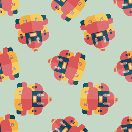 back pack: backpack flat icon seamless pattern background
