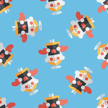 choir: Wedding angel choir flat icon,eps10 seamless pattern background Illustration