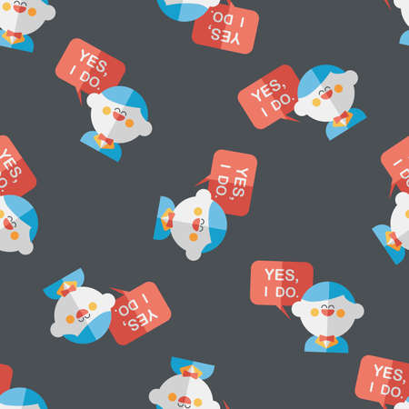 vow: wedding yes i do words from groom flat icon,eps seamless pattern background