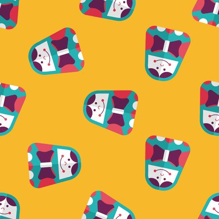 russian doll: Russian Doll flat icon,eps 10 seamless pattern background