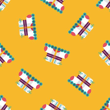 rollerskate: Roller skates flat icon,eps10 seamless pattern background