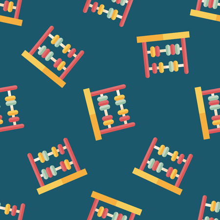 compute: abacus calculation flat icon,eps10 seamless pattern background