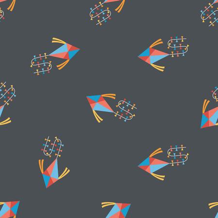 kite: kite flat icon,eps10 seamless pattern background Illustration