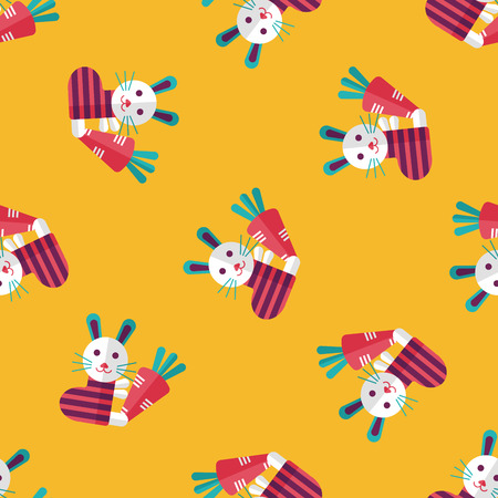 coney: Rabbit with carrot flat icon,eps 10 seamless pattern background