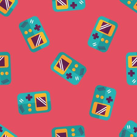 handheld: Handheld game flat icon,eps 10 seamless pattern background