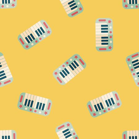 ebony: piano flat icon,eps10 seamless pattern background
