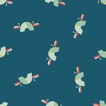 seesaw: Playground Seesaw flat icon seamless pattern background