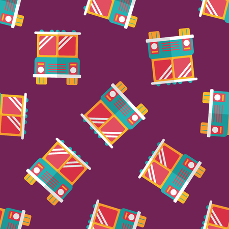 Transportation bus flat icon,eps10 seamless pattern background Vector