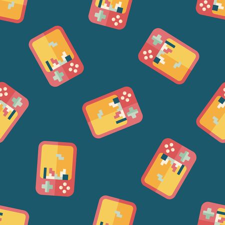 handheld device: Handheld game consoles flat icon,eps10 seamless pattern background