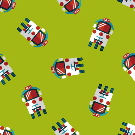 private service: Transportation taxi flat icon,eps10 seamless pattern background