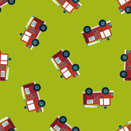 FIRE ENGINE: Transport Camion de pompiers icône plat, eps10 seamless fond