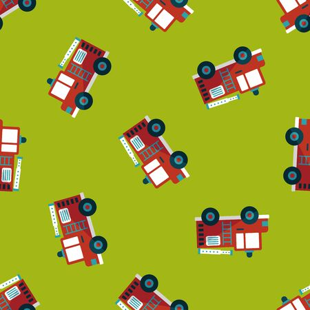 fire truck: Transportation Fire truck flat icon,eps10 seamless pattern background