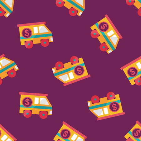 Armored car flat icon,eps10 seamless pattern background Vector