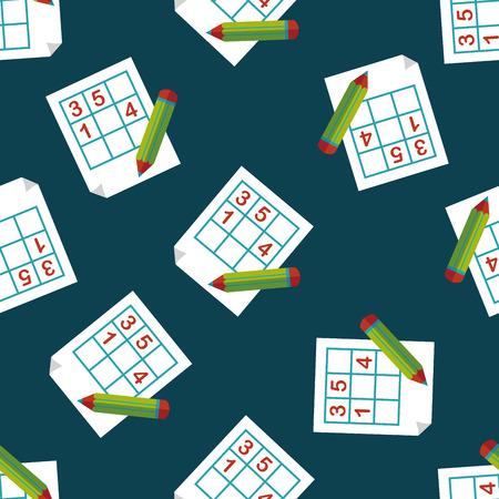 Sudoku flat icon,eps10 seamless pattern background