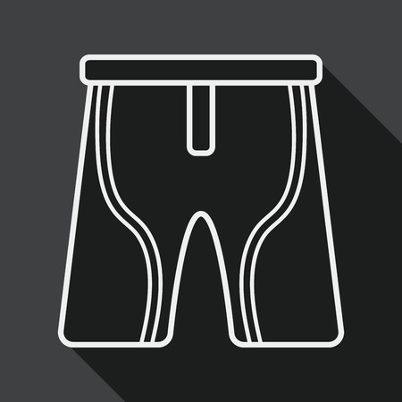 cycling shorts: cycling shorts flat icon with long shadow, line icon Illustration