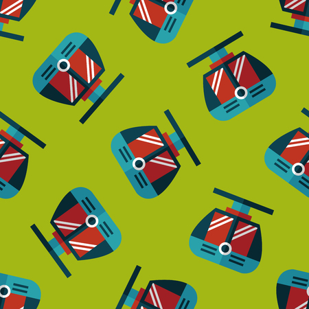loco: tram flat icon seamless pattern background Illustration