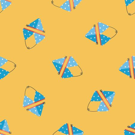 swimming suit: Swimming suit flat icon seamless pattern background Illustration