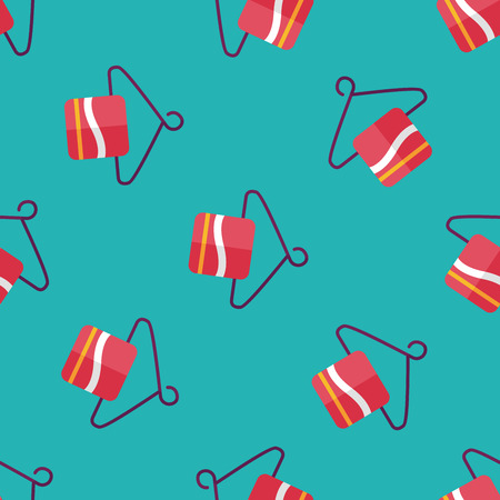towel hanger flat icon,eps10 seamless pattern background Illustration