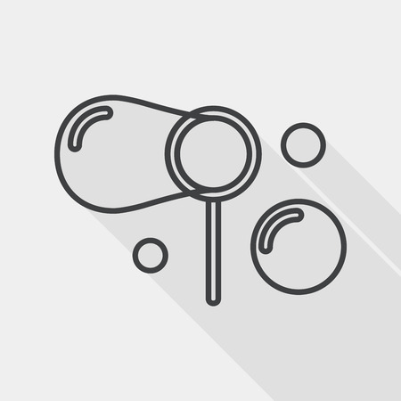 transparence: bubbles flat icon with long shadow, line icon Illustration